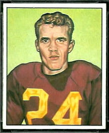 Howie Livingston 1950 Bowman football card