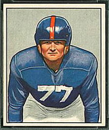 Jim White 1950 Bowman football card