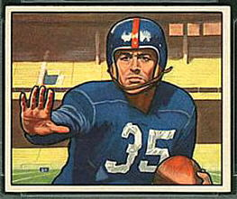 Gene Roberts 1950 Bowman football card