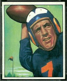 Bob Waterfield 1950 Bowman football card