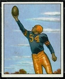 Val Jansante 1950 Bowman football card