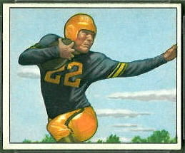 Jerry Nuzum 1950 Bowman football card