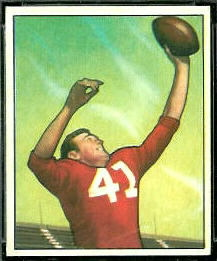 Billy Dewell 1950 Bowman football card