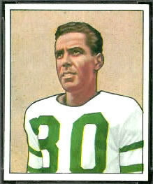 Bosh Pritchard 1950 Bowman football card