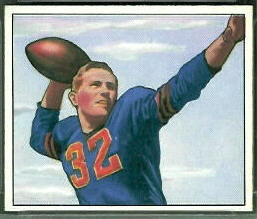 John Lujack 1950 Bowman football card