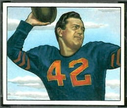 Sid Luckman 1950 Bowman football card