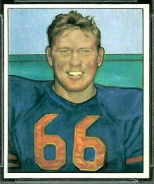 Bulldog Turner 1950 Bowman football card