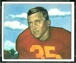 Bill Dudley 1950 Bowman football card
