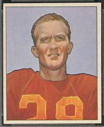 Hugh Taylor 1950 Bowman football card