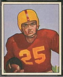 George Thomas 1950 Bowman football card
