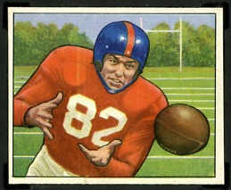 Ray Poole 1950 Bowman football card