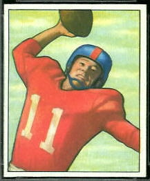 Travis Tidwell 1950 Bowman football card