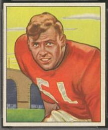 Gail Bruce 1950 Bowman football card