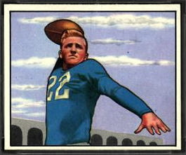 Bobby Layne 1950 Bowman football card