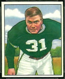 Dick Barwegan 1950 Bowman football card