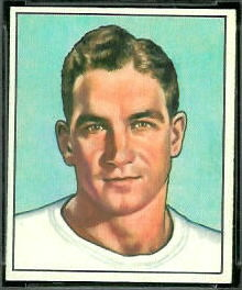 Adrian Burk 1950 Bowman football card