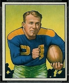 Larry Coutre 1950 Bowman football card