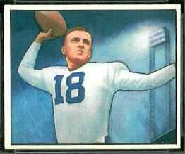 John Rauch 1950 Bowman football card
