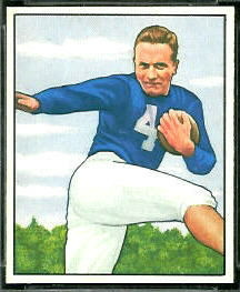 Mike Swistowicz 1950 Bowman football card