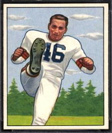 Lou Groza 1950 Bowman football card