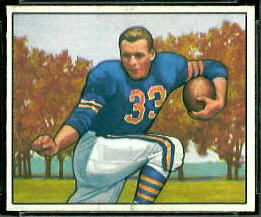 Bob Perina 1950 Bowman football card