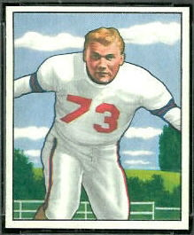 Bill Austin 1950 Bowman football card