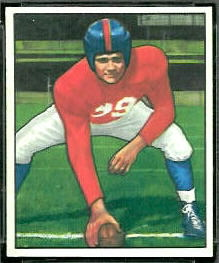 Tex Coulter 1950 Bowman football card