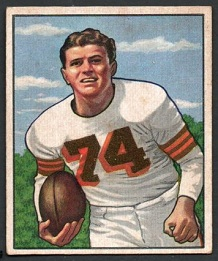 Tony Adamle 1950 Bowman football card