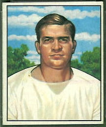 Paul Burris 1950 Bowman football card