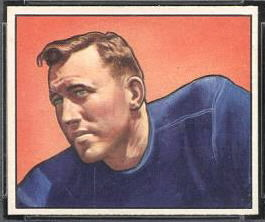 Barney Poole 1950 Bowman football card