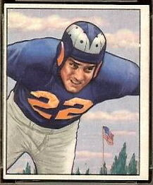 Fred Naumetz 1950 Bowman football card
