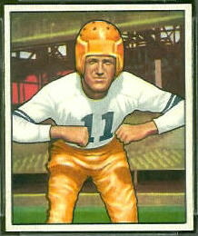 Howard Hartley 1950 Bowman football card