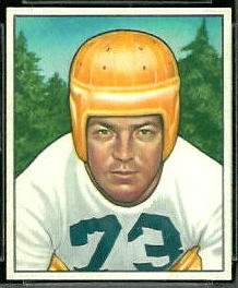 Darrell Hogan 1950 Bowman football card
