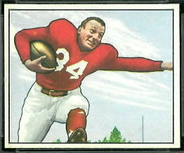 Pat Harder 1950 Bowman football card