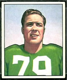 Vic Sears 1950 Bowman football card