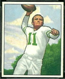 Tommy Thompson 1950 Bowman football card