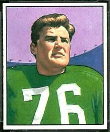 Bucko Kilroy 1950 Bowman football card