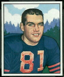 George Connor 1950 Bowman football card