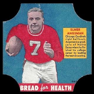 Elmer Angsman 1950 Bread for Health Labels football card