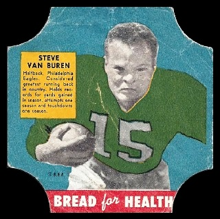 Steve Van Buren 1950 Bread for Health Labels football card