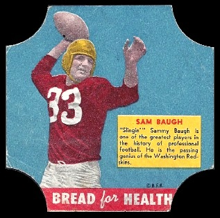 Sammy Baugh 1950 Bread for Health Labels football card