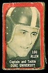 Lou Allen 1950 Topps Felt Backs football card