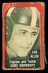 Lou Allen 1950 Topps Felt Backs football card