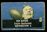 Don Burson 1950 Topps Felt Backs football card