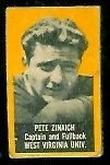 Pete Zinaich (yellow) 1950 Topps Felt Backs football card