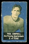 Paul Campbell 1950 Topps Felt Backs football card