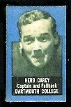 Herb Carey 1950 Topps Felt Backs football card