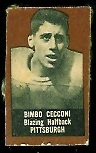Bimbo Cecconi (brown) 1950 Topps Felt Backs football card