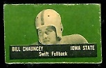 Bill Chauncey 1950 Topps Felt Backs football card