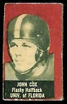 John Cox 1950 Topps Felt Backs football card